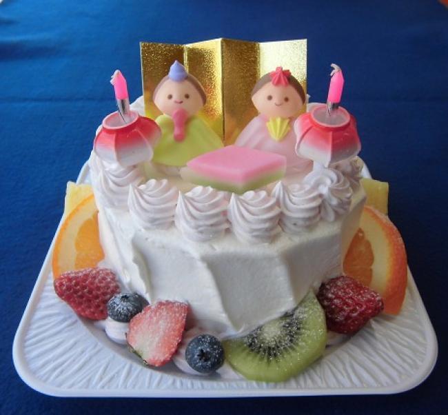ひな祭りケーキのご予